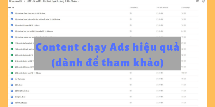 Content chạy Ads
