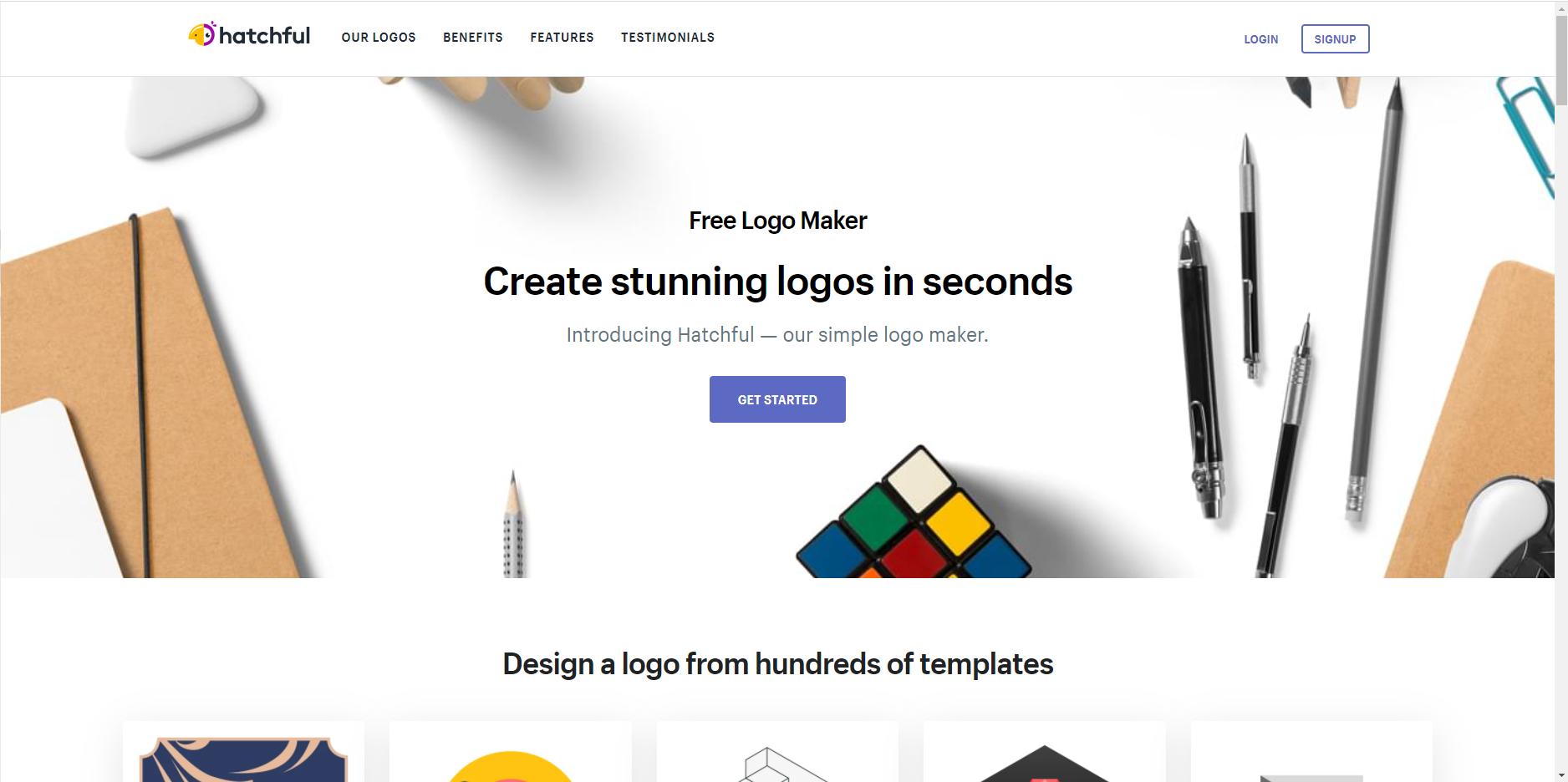 Công cụ thiết kế logo - Hatchful