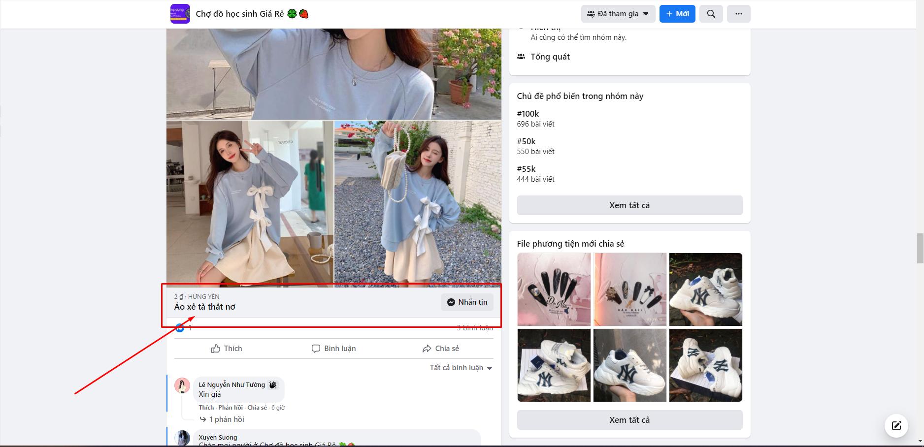 Tắt định dạng bán hàng trên facebook