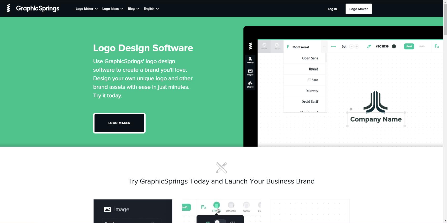 Công cụ thiết kế logo - GraphicSprings