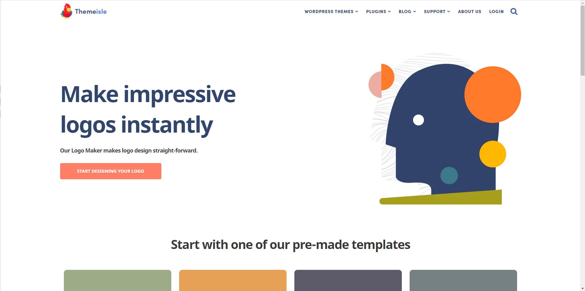 Công cụ thiết kế logo - Themeisle Logo Maker